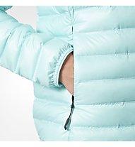 Adidas Limited Down - Daunenjacke mit Kapuze - Damen, Light Blue