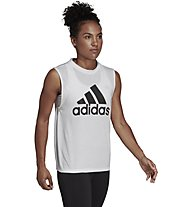 adidas Must Haves Badge of Sport - top fitness - donna, White