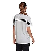 adidas W's Must Haves 3-Stripes Tee Boyfriend Fit - T-Shirt - Damen, White