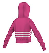 Adidas Wardrobe Style Crop Sweatshirt-Jacke Mädchen, Pink/White