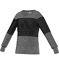 Adidas Wardrobe Style Sweat Girls, Grey Heather/Black