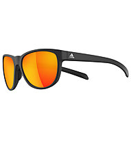 Adidas Wildcharge - Sportbrille, Black Matt-Red Mirror