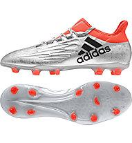Adidas X 16.2 FG - Fußballschuhe, Silver/Orange
