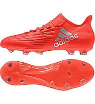 Adidas X 16.2 FG - scarpe da calcio terreni compatti, Red