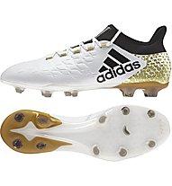 Adidas X 16.2 FG Fußballschuh für feste Böden, White/Gold