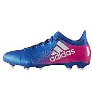 Adidas X 16.3 FG - Fußballschuh für festen Boden, Blue/Pink