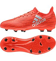 Adidas X 16.3 FG J - scarpe da calcio terreni compatti bambino, Red