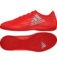 Adidas X 16.4 Indoor Shoes IC - Scarpe da calcio Indoor, Red