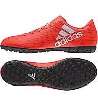 Adidas X 16.4 TF - scarpe da calcio per terreni duri, Red