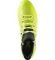 adidas X 17.1 FG - scarpa da calcio terreni compatti, Yellow/Black