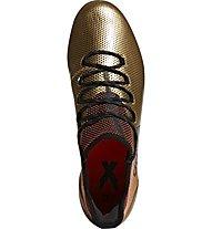 Adidas X 17.1 FG - scarpe da calcio terreni compatti, Gold