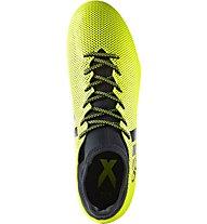 Adidas X 17.3 FG - Fußballschuhe fester Boden, Yellow/Black