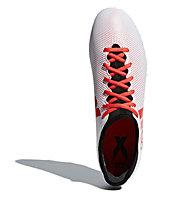 adidas X 17.3 FG - scarpe da calcio per terreni compatti, White/Red