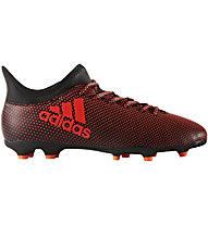 Adidas X 17.3 FG Jr - Fußballschuhe fester Boden - Kinder, Black