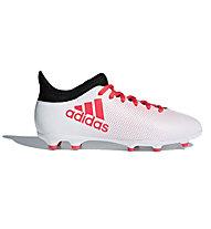 adidas X 17.3 FG Junior - scarpe da calcio per terreni compatti, White/Red/Black