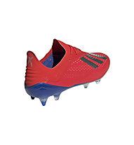 adidas X 18.1 SG - scarpe da calcio terreni morbidi, Red/Silver/Blue
