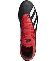 adidas X 18.3 FG - Fußballschuhe kompakte Rasenplätze - Herren, Black/Red/White
