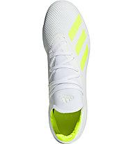 adidas X 18.3 FG - scarpe calcio terreni compatti, White/Lime