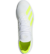 adidas X 18.3 FG - Fußballschuh feste Böden, White/Lime
