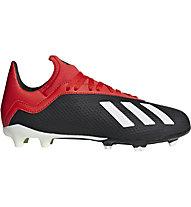 adidas X 18.3 FG Jr. - Fußballschuhe kompakte Rasenplätze - Kinder, Black/Red/White