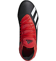 adidas X 18.3 FG JR - scarpe da calcio terreni compatti - bambino, Black/Red/White