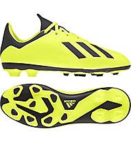 adidas X 18.4 FxG J - scarpe da calcio terreni compatti - bambino, Yellow/Black