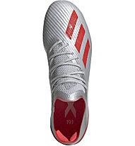 adidas X 19.1 FG - Fußballschuhe fester Boden, Silver/Red