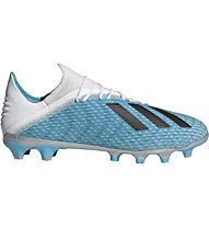 adidas X 19.2 MG - Fußballschuhe für Multiground, Light Blue/Black
