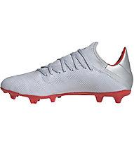 adidas X 19.3 FG - Fußballschuhe fester Boden, Silver/Red