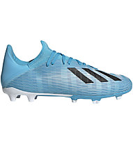adidas X 19.3 FG - scarpe da calcio terreni compatti, Light Blue