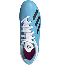 adidas X 19.4 FxG Jr - Fußballschuhe fester Boden - Kinder, Light Blue/White