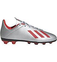 adidas X 19.4 FxG Junior - scarpe da calcio terreni compatti - bambino, Silver/Red