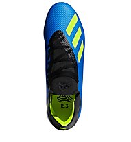 Adidas X Tango 18.3 TF - scarpe da calcio terreni duri, Blue/Black/Lime