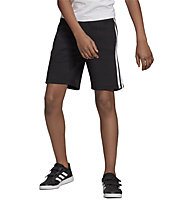 adidas YB Essentials 3-Stripes Knit - pantalni corti - bambino, Black