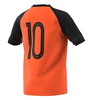 Adidas Youth Boys Messi Icon Tee - Fußballtrikot - Kinder, Orange/Black