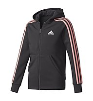 Adidas Essentials 3-Stripes - Kapuzenjacke - Mädchen, Black/Rose