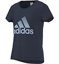 Adidas Athletics Performance Logo Tee T-Shirt fitness Bambini, Blue