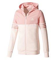 Adidas Hood Cotton Tracksuit - Trainingsanzug - Mädchen, Light Grey/Pink