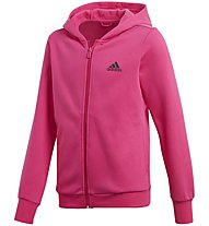 Adidas YG Hood Cotton - Trainingsanzug - Mädchen, Pink/Grey