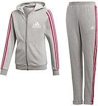 adidas Hooded Cotton Tracksuite - Trainingsanzug - Kinder, Grey
