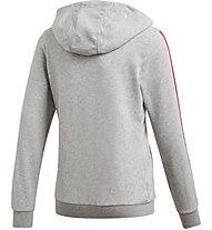 adidas Hooded Cotton - tuta sportiva - bambina, Grey