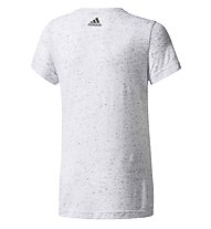 Adidas ID Athletics - T-Shirt Fitness - Mädchen, White/Grey