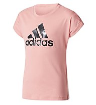 Adidas Youth Logo - T-Shirt Fitness - Mädchen, Pink