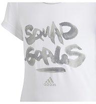 adidas Squad - T-shirt fitness - bambina, White