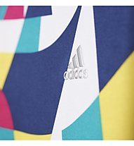 Adidas YG W F 3/4 Tight ragazza, Multicolour Allover Print
