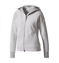Adidas Z.N.E. Hoodie 2 Pulse - Kapuzenjacke - Damen, Grey