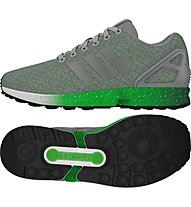 Adidas Originals Zx Flux M - scarpa ginnastica, Light Grey/Light Green