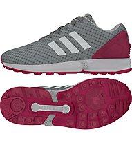 Adidas Originals Zx Flux - scarpa ginnastica donna, Solid Grey/White/Solar Pink