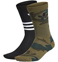 adidas Originals Camo Crew 2PP - Socken kurz, Black/Dark Green