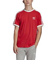 adidas Originals 3-Stripes Tee - T-Shirt - Herren, Light Red